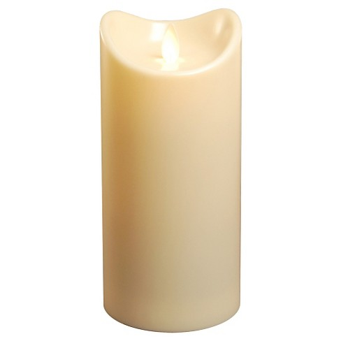 "Action Flame LED Pillar Candle Cream 3.5""x7"" - Lumabase® - image 1 of 4"
