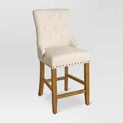 "English Arm Tufted 24"" Counter Stool"