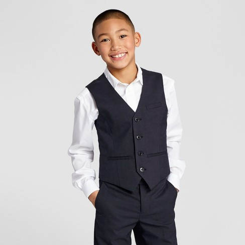 WD.NY Boys' Suit Vest - Classic Navy - image 1 of 3
