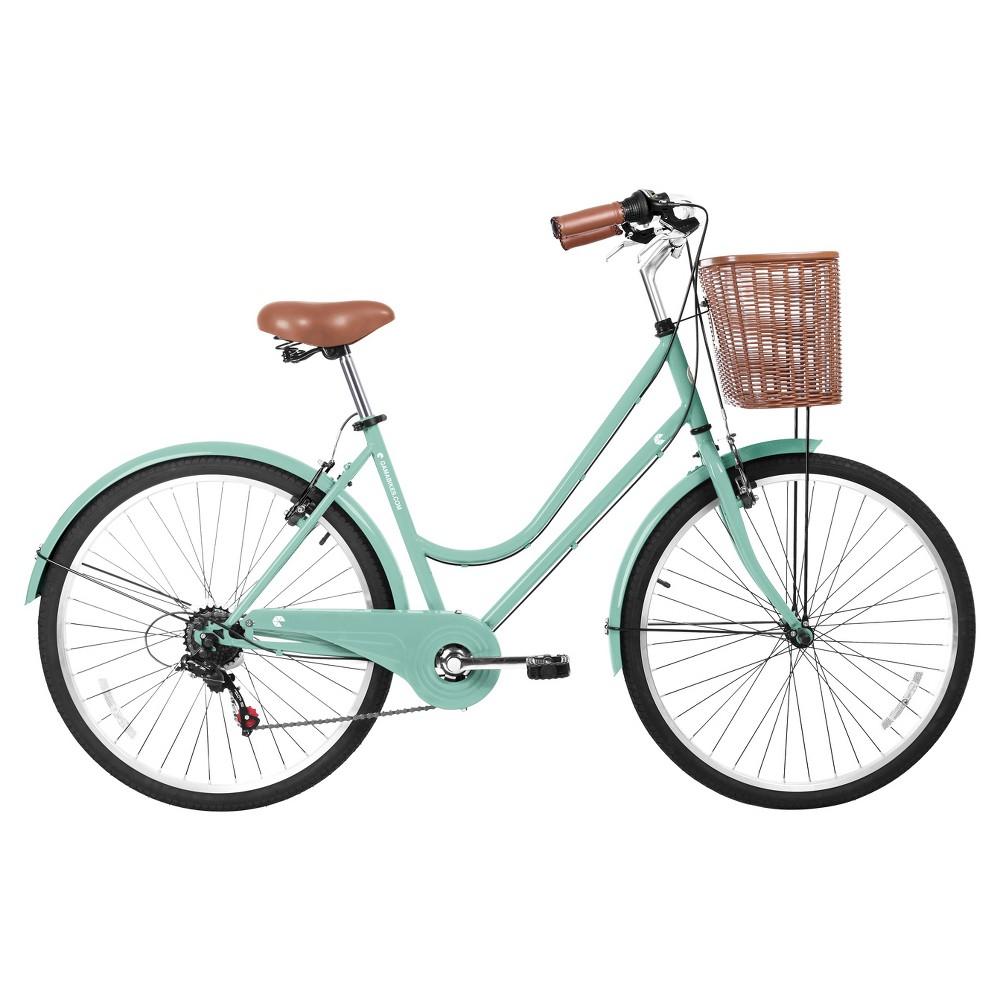 Gama Bikes Women's Basic 26 6-Speed Urban Hybrid Commuter - Green