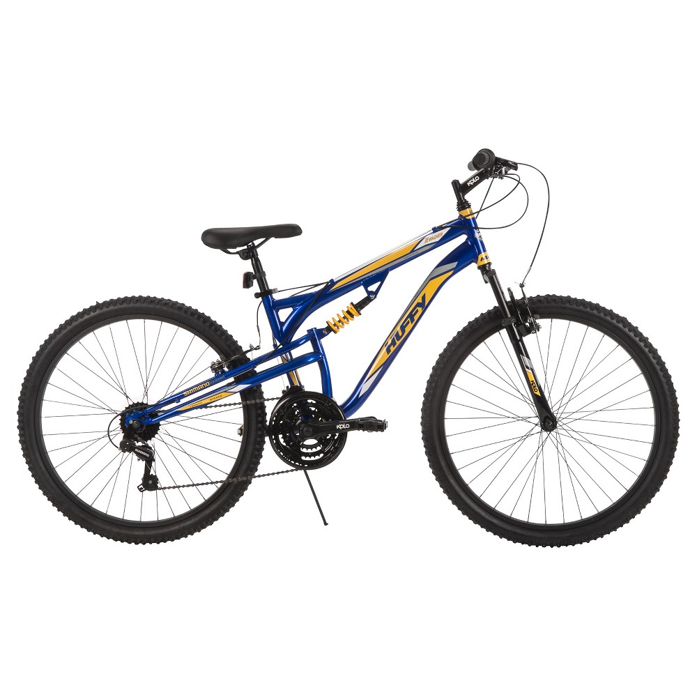Huffy Men's Evader Dual Suspension Mountain Bike 26, Navy Blue