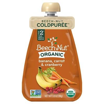 Beech-Nut Organic Cold Puree Pouch, Banana, Carrot & Cranberry - 3.5oz