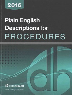 Plain English Descriptions for Procedures 2016 (Paperback)