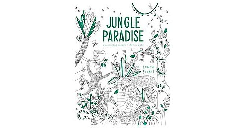 Jungle Paradise Adult Coloring Book: A Coloring Escape into the Wild - image 1 of 1
