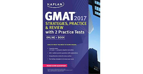 Gmat 2017 Strategies, Practice, and Review + Online : With 2 Practice Tests (Paperback) - image 1 of 1