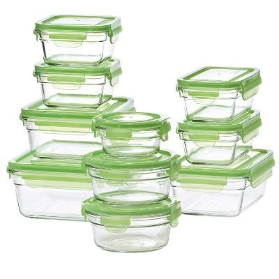 Glasslock 20-Piece Assorted Glass Storage Box Set