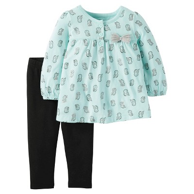 Just One You™ Made by Carter's® Toddler Top And Bottom Set - Crystal Mint 12M