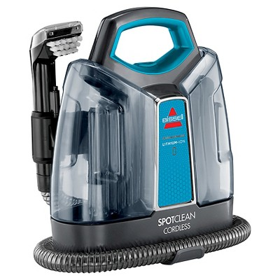 bissell spotclean cordless 252v portable upholstery and carpet cleaner disco teal