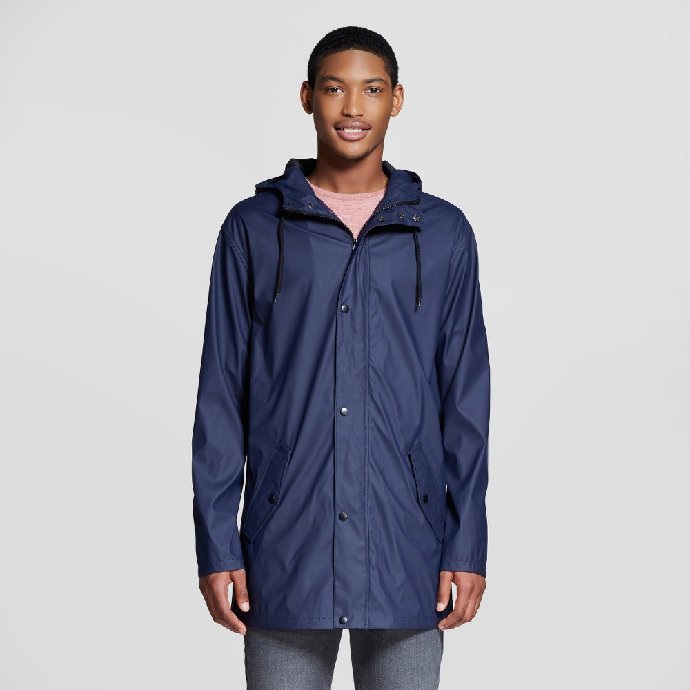 Mens Water Resistant Jacket Navy (Blue) Xxxl - Mossimo Supply Co.
