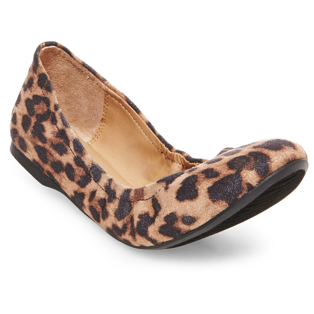 Womens Ona Scrunch Ballet Flats - Leopard 9.5