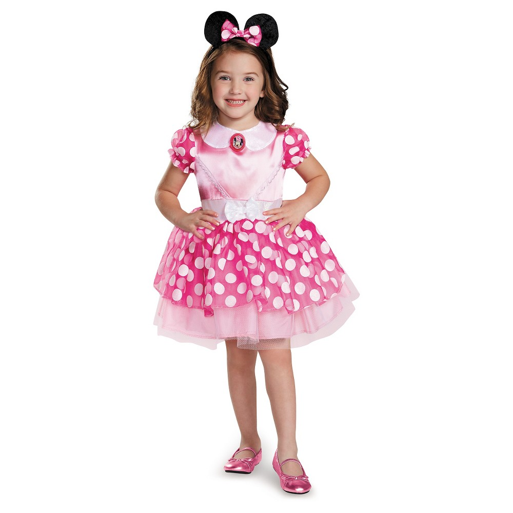 Toddler Disney Minnie Mouse Deluxe Costume - 2T, Toddler Girls, Pink