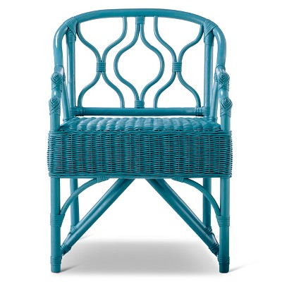 Orani Wicker Arm Chair Teal - Boho Boutique