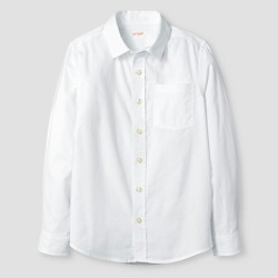 Boys' Long Sleeve Button Down Oxford Shirt - Cat & Jack™ White