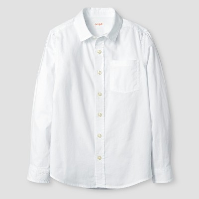 view Boys' Long Sleeve Button-Down Oxford Shirt - Cat & Jack White on target.com. Opens in a new tab.