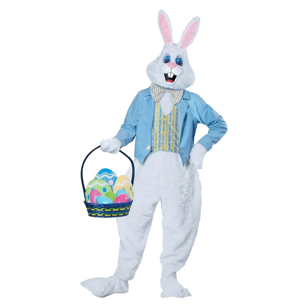 Deluxe Adult Easter Bunny Costume - Large/X-Large, Adult Unisex, Size: L/XL, White