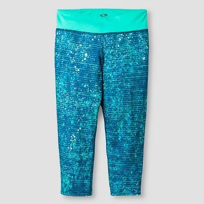 859651d0ca95e Girls Printed Performance Yoga Capri Aqua M – C9 Champion® – Target ...