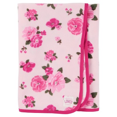 Just One You™ Made by Carter's® Baby Girls' Floral Fleece Blanket - Pink
