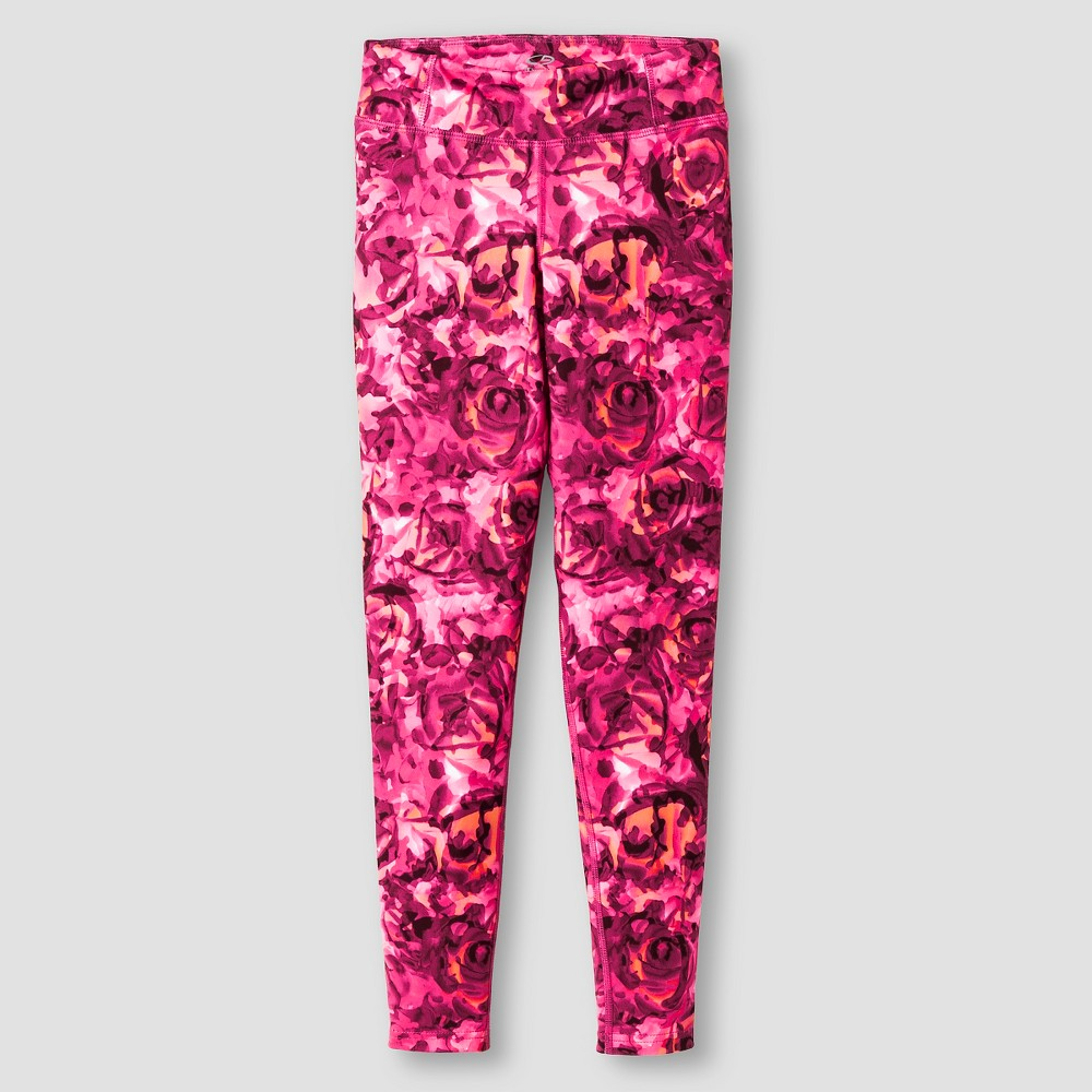 Girls Printed Performance Yoga Leggings - C9 Champion Rose XL, Pink