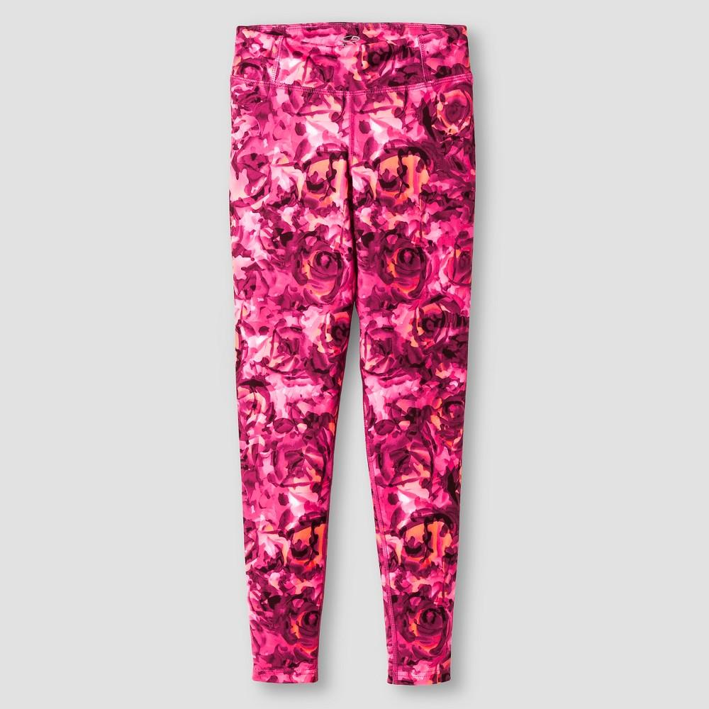 Girls' Printed Performance Yoga Leggings - C9 Champion Rose S, Pink