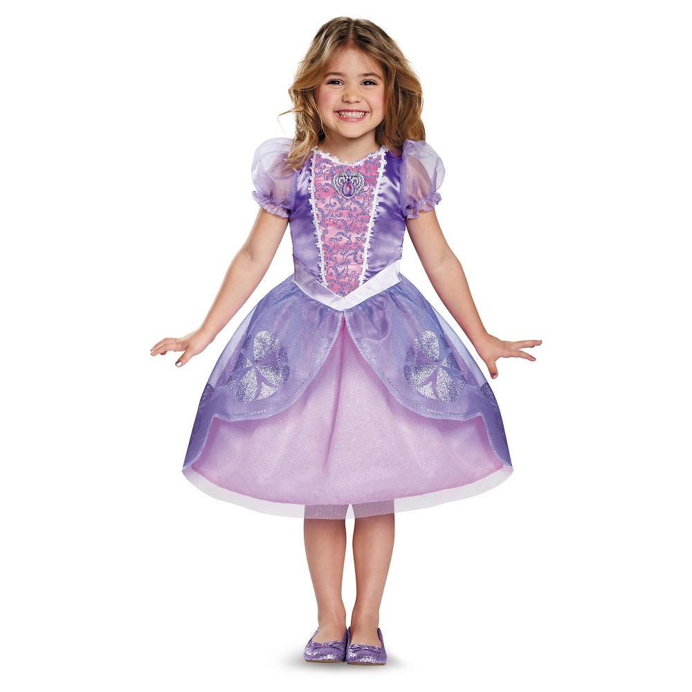 Toddler Sofia the First Deluxe Costume - 3T-4T, Toddler Girls, Purple