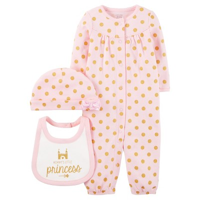 Just One You™ Made by Carter's® Baby Girls' 3pc Converter Gown Set - Pink