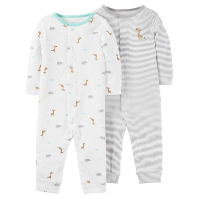 Baby 2pk Jumpsuit Set - Just One You™ Made by Carter's® Gray Moon 3M