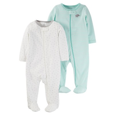 Baby 2pk Sleep N' Play Set - Just One You™ Made by Carter's® Cool Mint NB