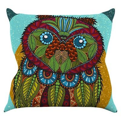 Beautiful Art Love Passion Owl Throw Pillow   KESS InHouse