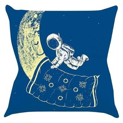 Blue/Yellow KESS BarmalisiRTB  You Need A Break  Throw Pillow (16 x16 )- KESS InHouse