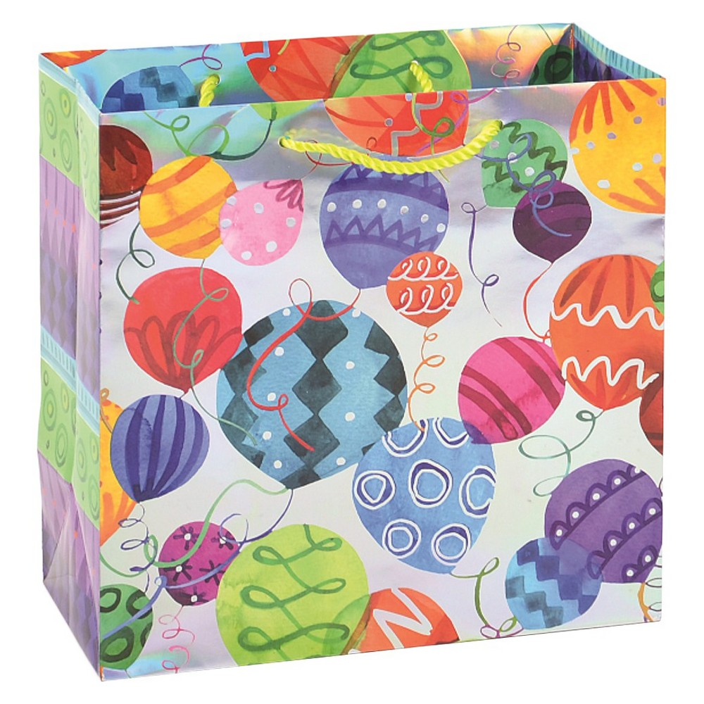 Papyrus Patterned Balloons Gift Bag,  Multi-Colored