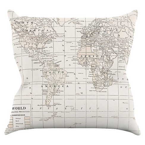 Catherine Holcombe The Old World Cream Throw Pillow - KESS InHouse - image 1 of 1