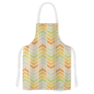 Cooking Apron Skye Zambrana  Infinity  Tan/Orange (31  X 36 )- Kess Inhouse