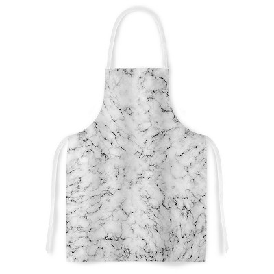 Cooking Apron Will Wild  Marble  Gray (31  X 36 )- Kess Inhouse
