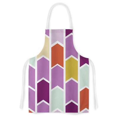 Cooking Apron Pellerina Design  Orchid Geometric Chevron  Purple (31  X 36 )- Kess Inhouse