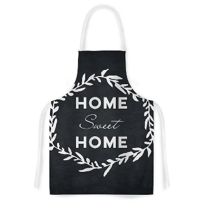 Cooking Apron Kess Original  Home Sweet Home  Black (31  X 36 )- Kess Inhouse