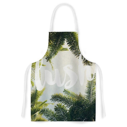 "Cooking Apron Catherine McDonald ""Lush"" Green/Gray (31"" X 36"") - Kess Inhouse - image 1 of 1"