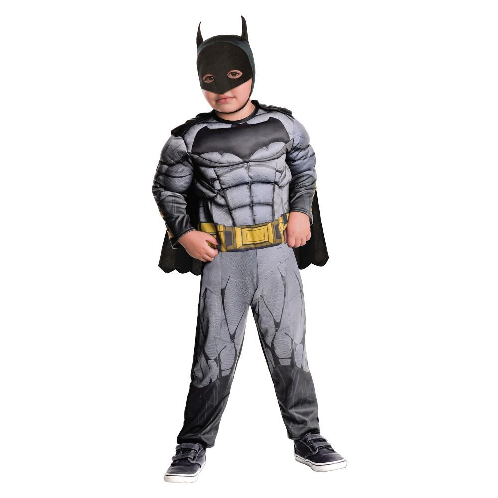 Toddler Boys Batman Dawn of Justice Deluxe Costume - 2T-3T, Multicolored