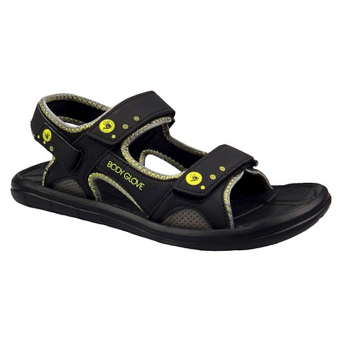 Men's Body Glove Trek Ankle Strap Sandals - Black/Yellow - image 1 of 3