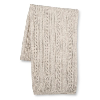 Cream Aura Knitted Throw (55 X79 )- Fable®