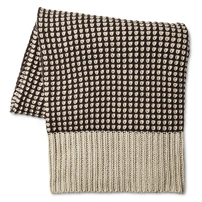 Loya Olive Knitted Throw (50 x60 )Ash - Bedeck 1951®