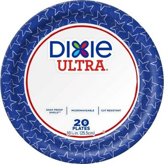 """Dixie Ultra Limited Edition Paper Plates 10 1/16"""" Plates - 20ct"""