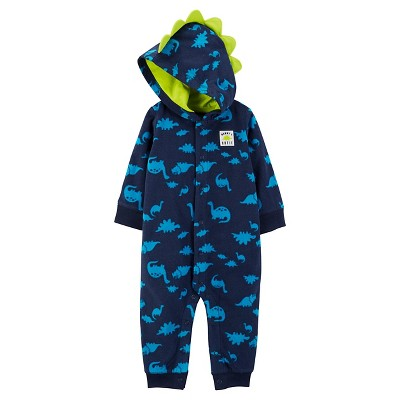Just One You™ Made by Carter's® Baby Boys' Hooded Dino Jumpsuit - Blue 3M