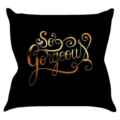 Black KESS Roberlan  So Gorgeous  Throw Pillow (20 x20 )- KESS InHouse