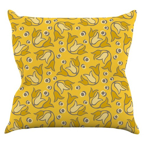Suzie Tremel Tulip Toss Throw Pillow - KESS InHouse - image 1 of 1