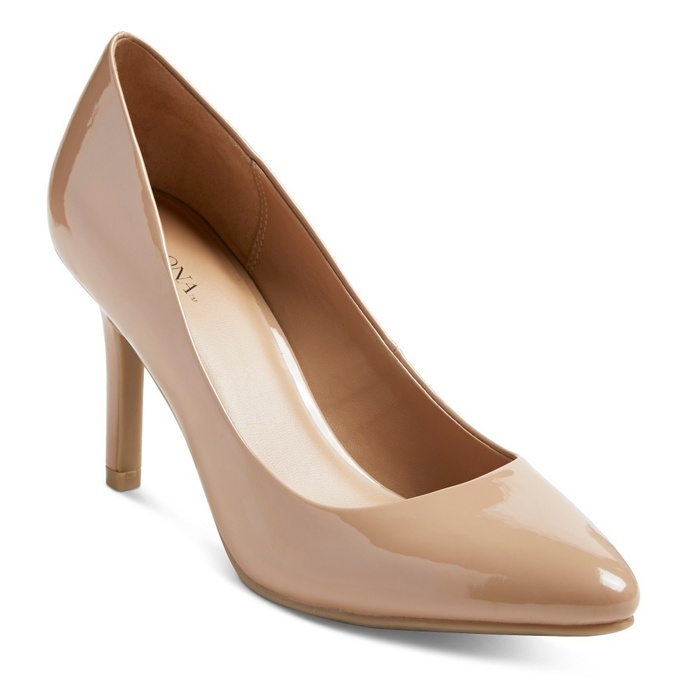 Womens Alexis Pointed Toe Pumps - Merona Pale Tan 12