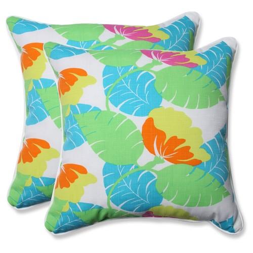 Pillow Perfect Outdoor Decorative Pillow Set - White