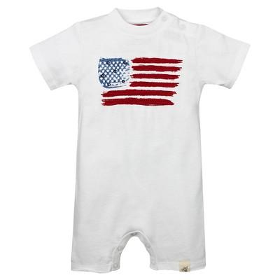 Burt's Bees Baby™ American Flag Shortall - White 6-9M
