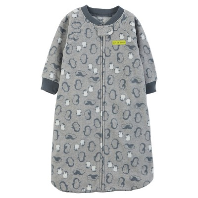 Just One You™ Made by Carter's® Baby Boys' Gray Penguin Microfleece Sleepbag