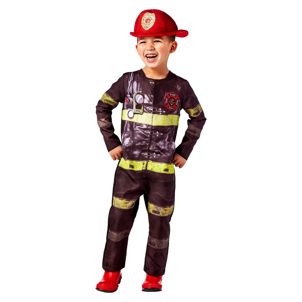 Toddler Firefighter Costume - 2T-3T - Hyde and Eek! Boutique, Toddler Unisex, Multicolored