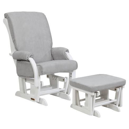 shermag sorrento glider chair and ottoman combo gray target